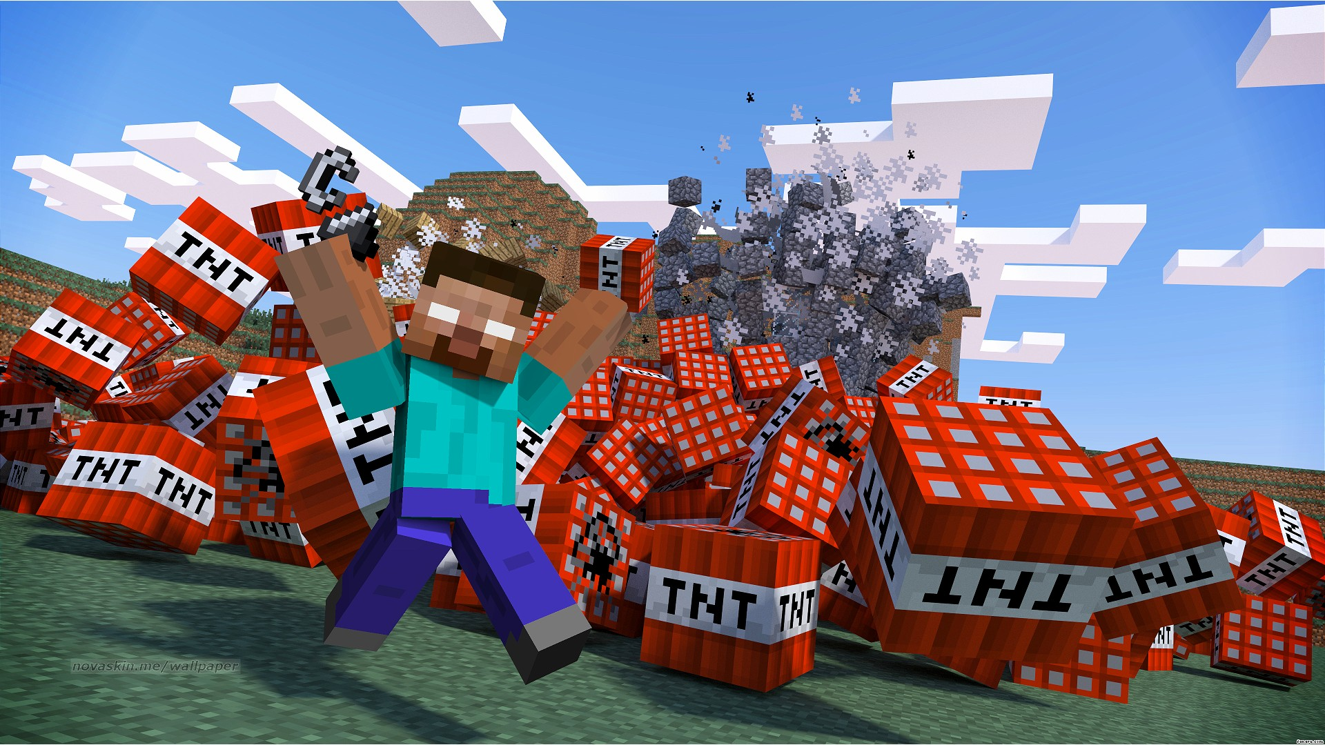 Minecraft Tnt Blast HD Minecraft Lb Photo Photo Realism 1920x1080