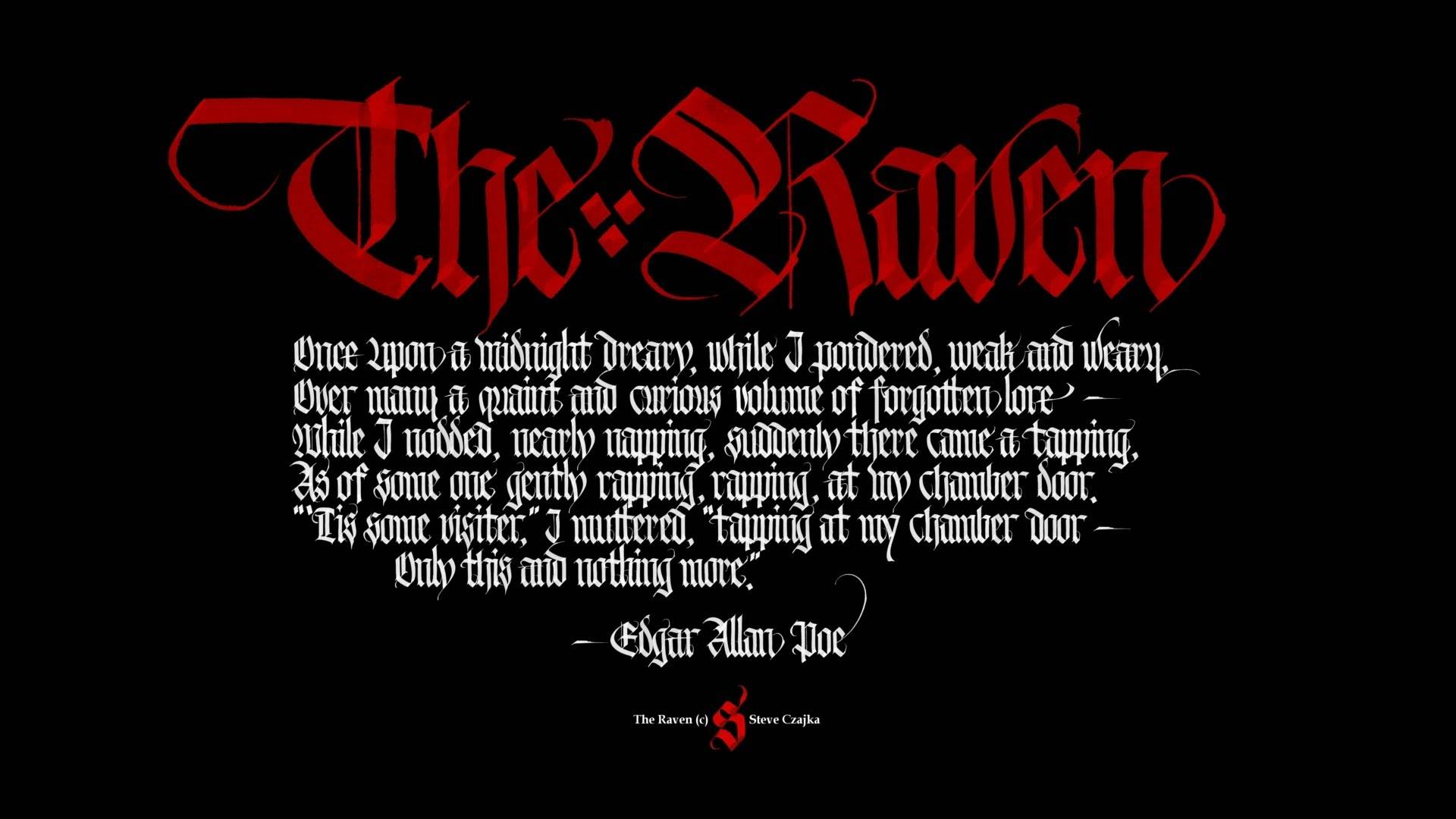 The Raven Wallpaper 7   Edgar Allan Poe Wallpaper 1920x1080