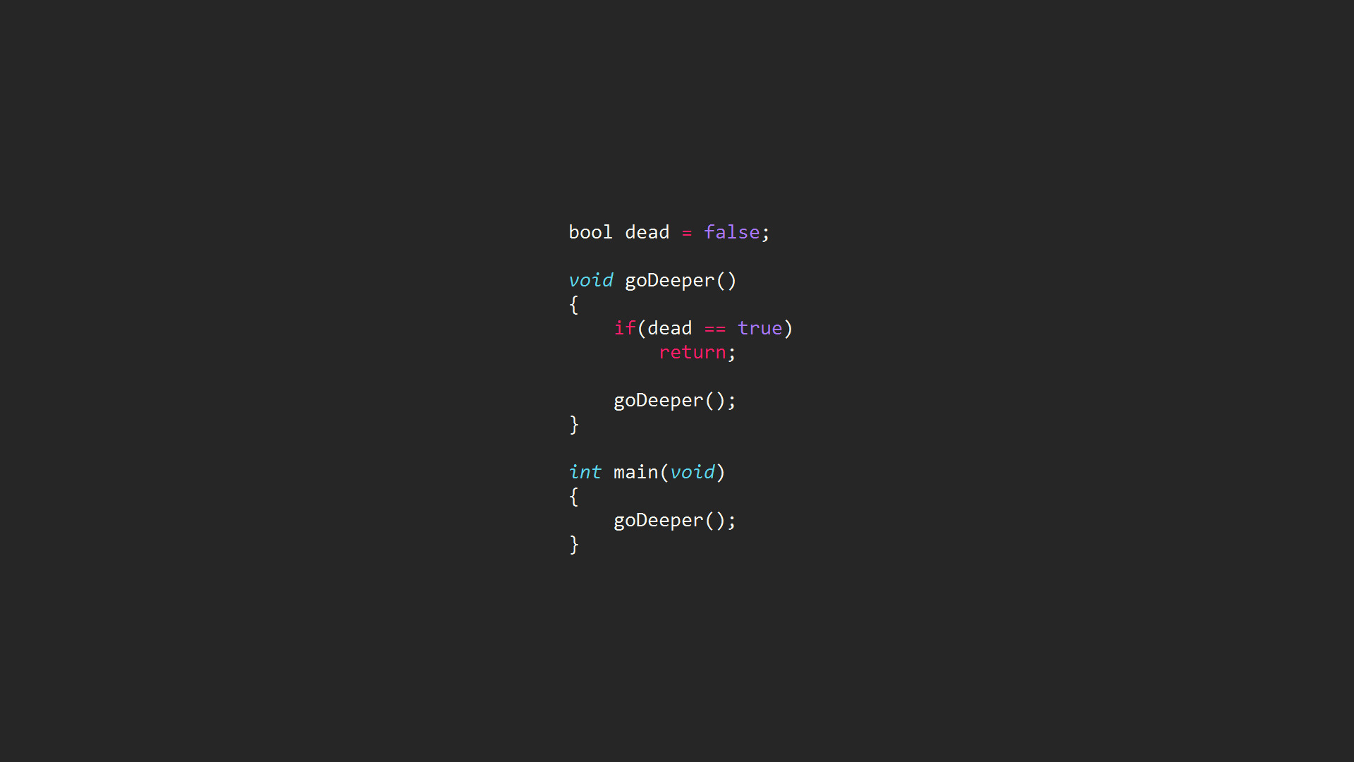 code Computer Syntax Highlighting Inception Programming 1920x1080