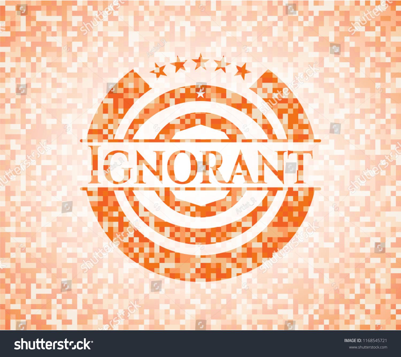Ignorant Abstract Emblem Orange Mosaic Background Stock Vector 1500x1335