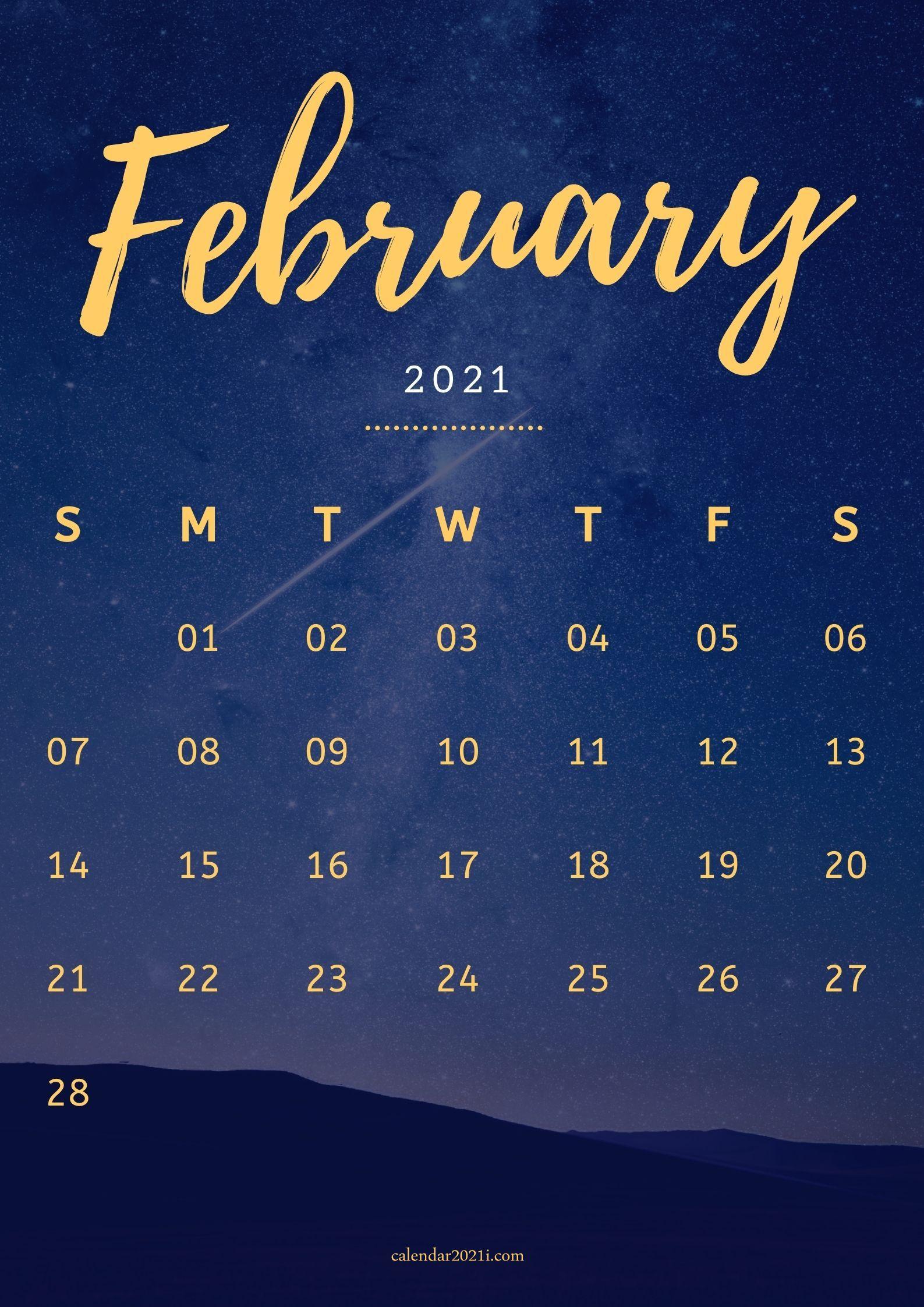 iPhone February 2021 Calendar Wallpapers Download Calendar 2021