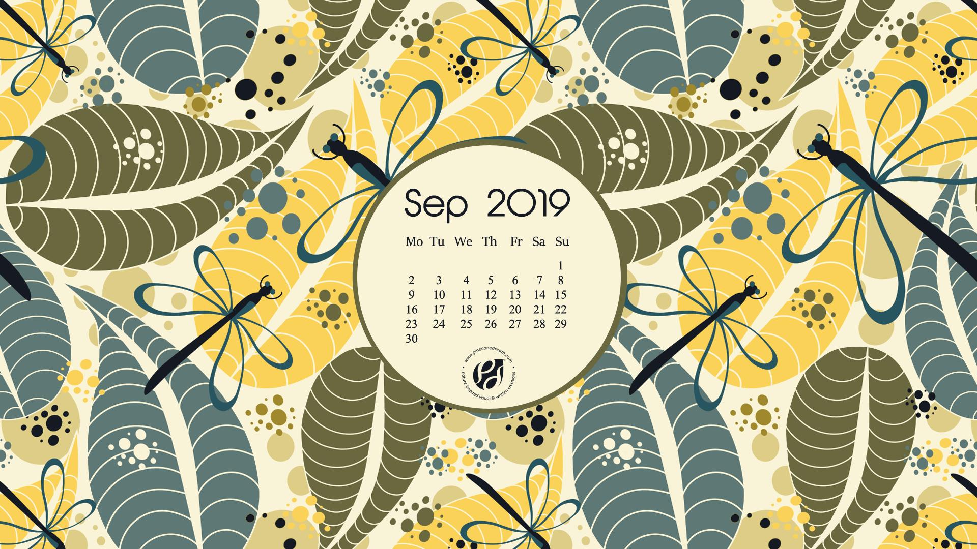 September 2019 calendar wallpapers printable planner 1920x1080