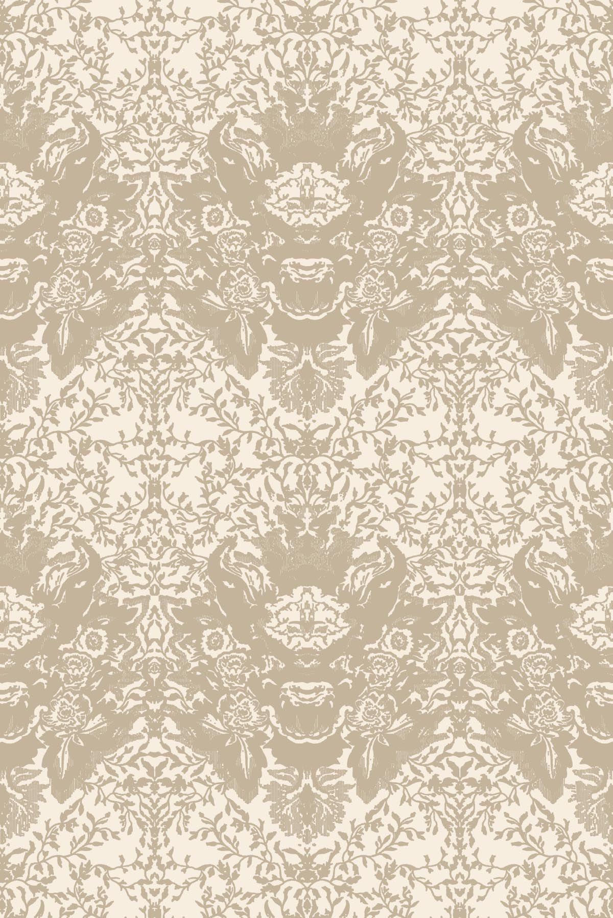 Damask Flocked Wallpaper 1200x1798