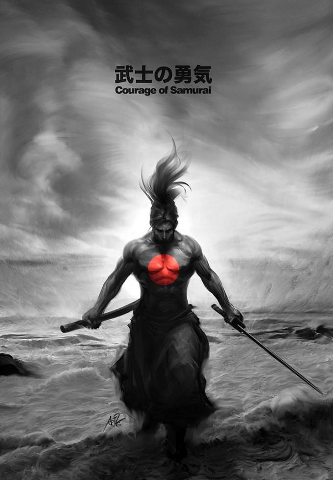 60 Epic Samurai Artwork w Inspirational Miyamoto Musashi Quotes 680x981