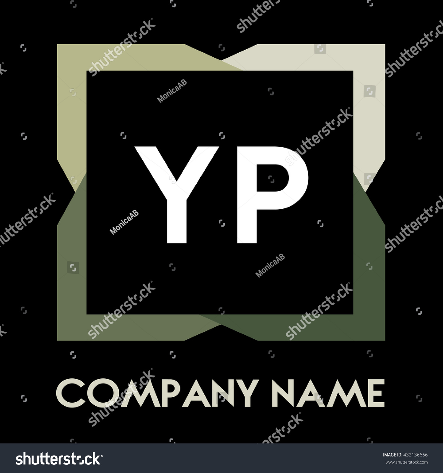 Yp Letters Business Logo Creative Icon Stock Vector Royalty 1500x1600