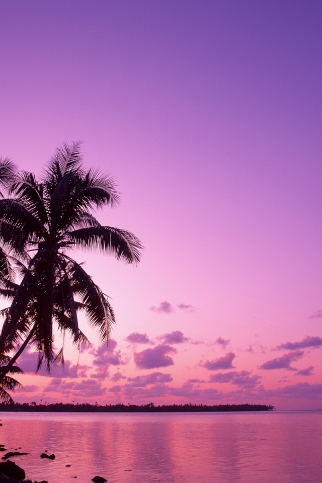 640x960 Pink sunset Iphone 4 wallpaper 640x960