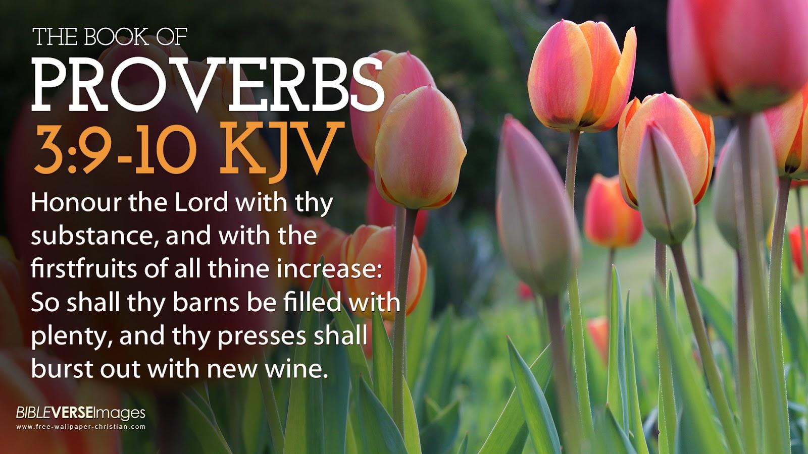 Bible Verse Wallpaper proverbs 3 9 10 King James Versionjpg 1600x900