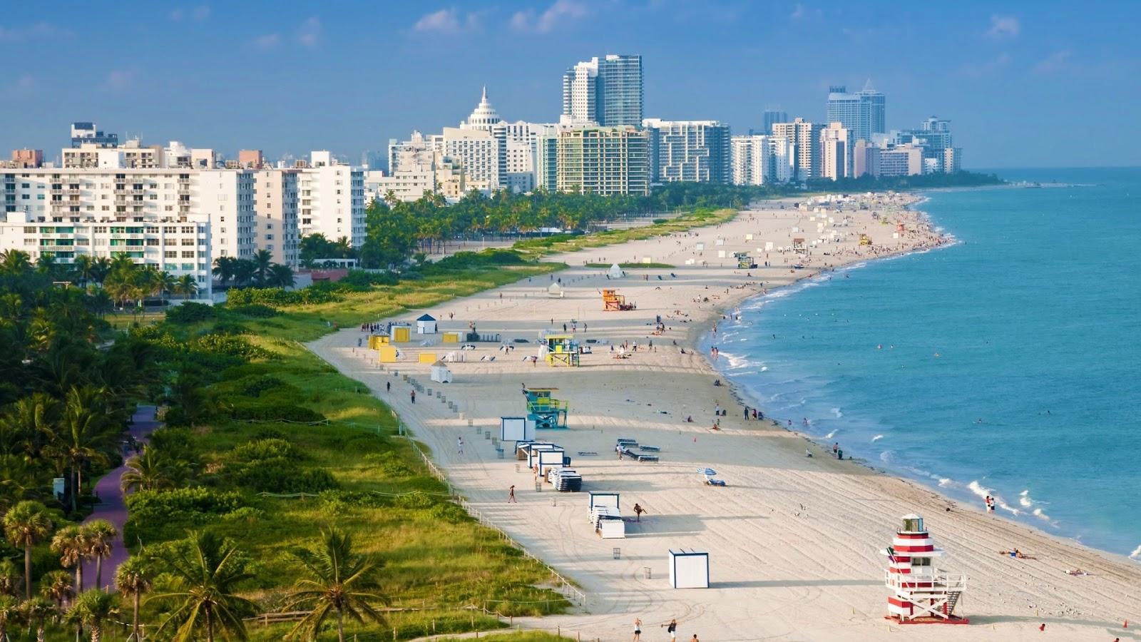 Miami Beach Full HD Desktop Wallpapers 1080p 1600x900