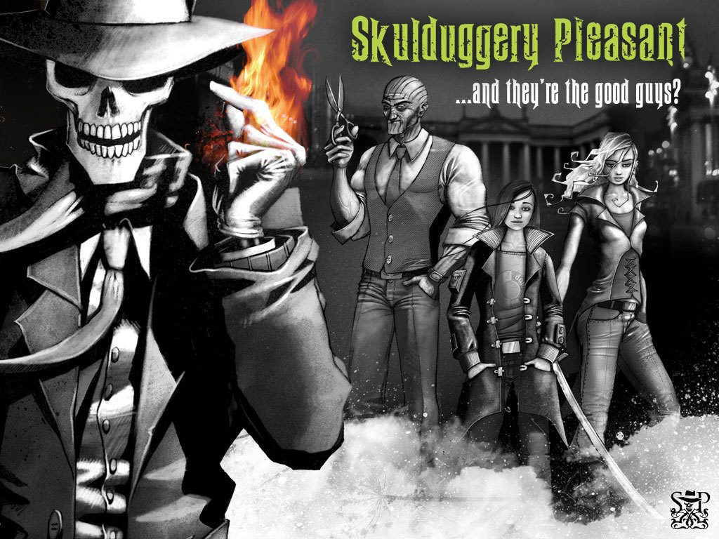 Skulduggery Pleasant and crew images Skulduggery Pleasant HD 1024x768