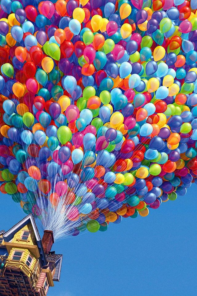 Up Balloons Parallax Hd Iphone Ipad Wallpaper More Wallpapers 640x960