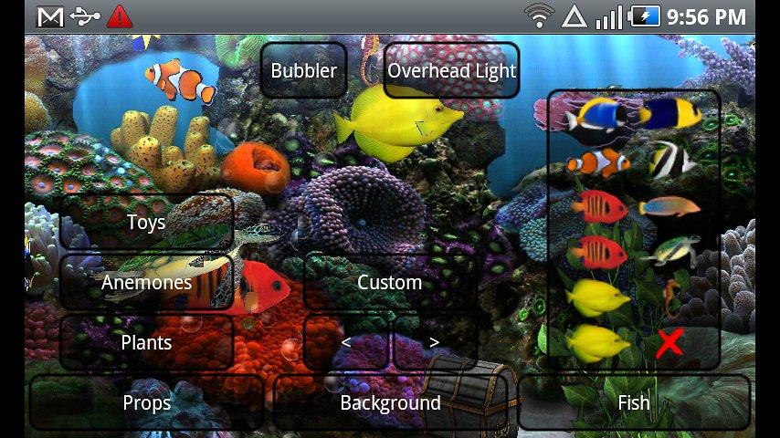 Aquarium Live Wallpaper 854x480