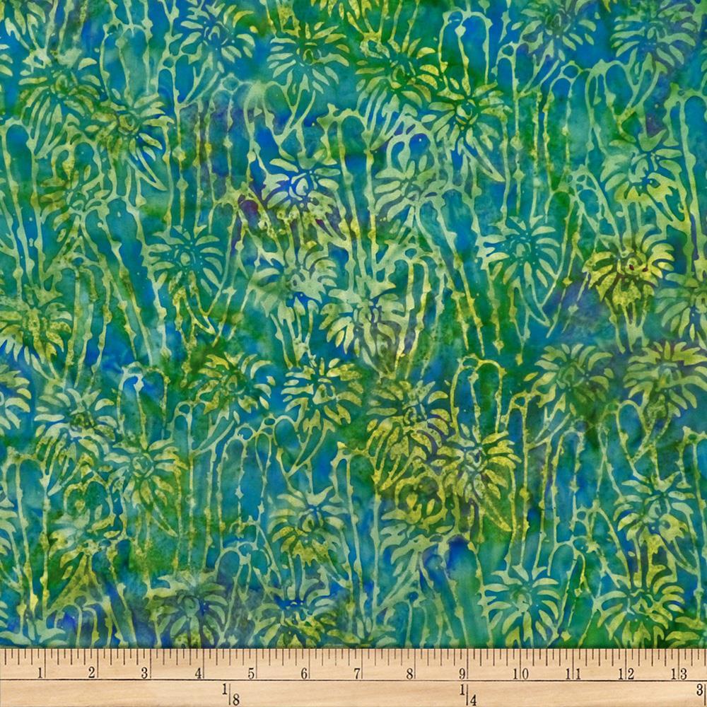 Batik by Mirah Peapod Florals Piquant Green   Discount Designer 1000x1000
