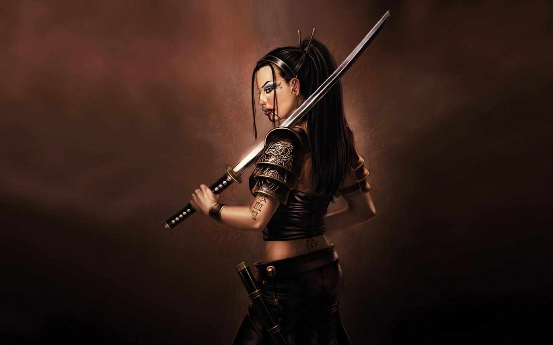 women samurai female warriors 1600x1200 wallpaper People HD Wallpaper 1920x1200