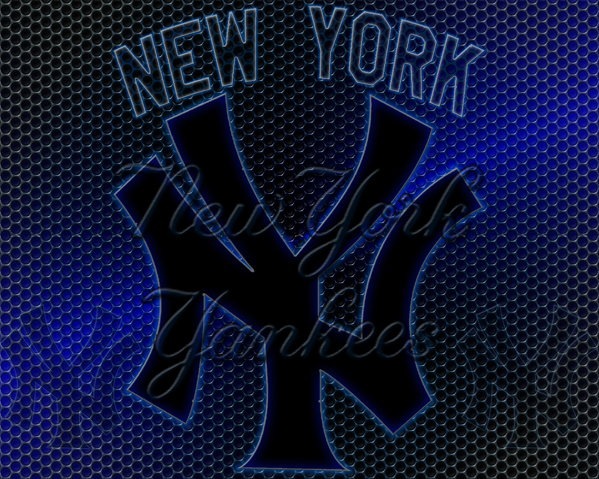 New York Yankees Logo Grid Wallpaper Download Wallpaper 2000x1601