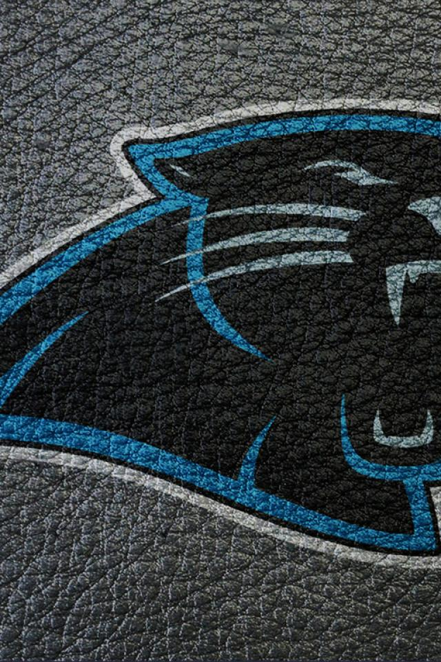 Leather Carolina Panthers Football Wallpaper for iPhone 4 640x960