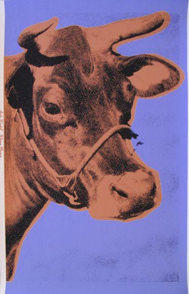 Andy Warhol   Cow II11A 1971 screenprint on wallpaper 45 12 x 29 3 387x600
