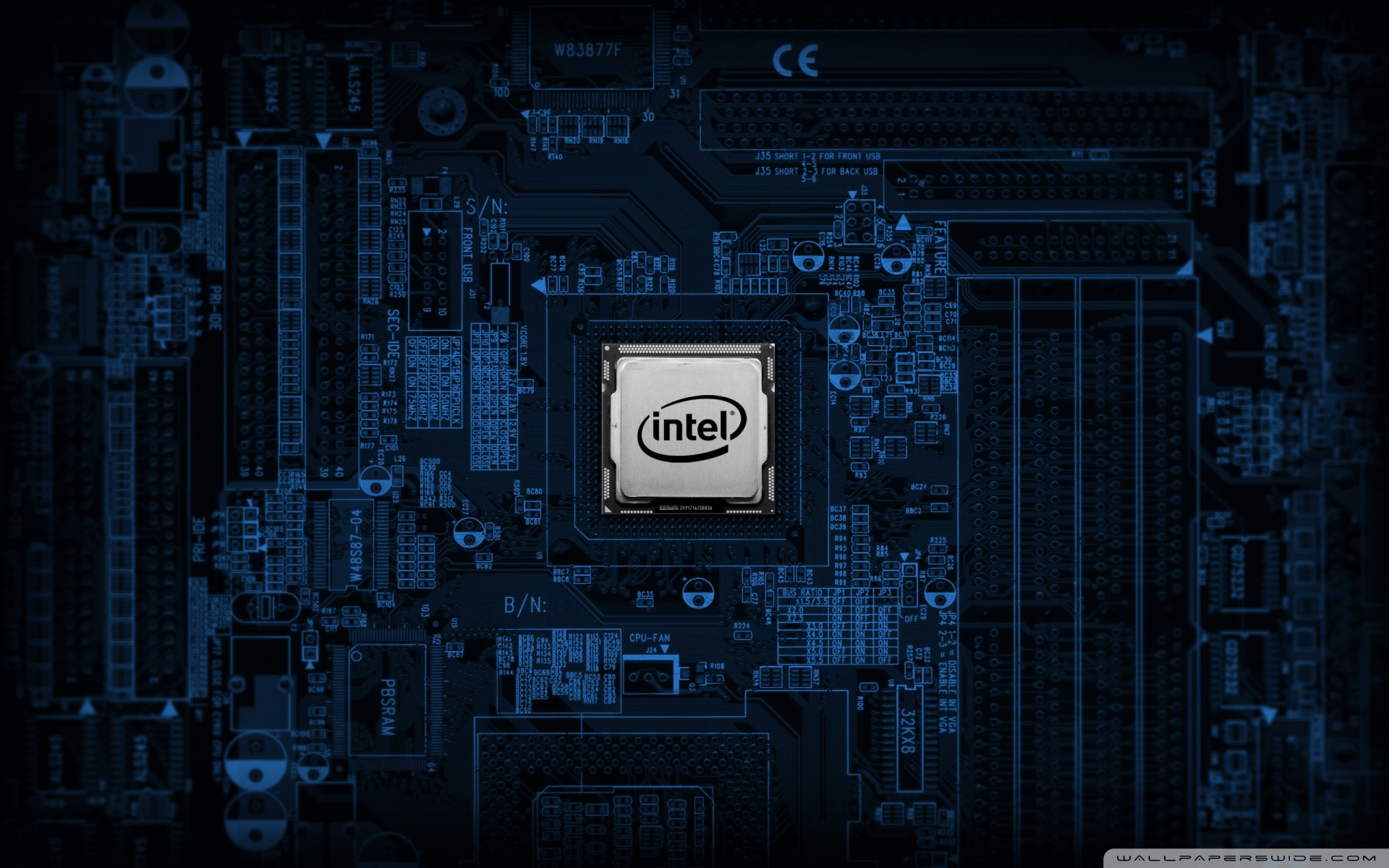 Intel Motherboard 4K HD Desktop Wallpaper for 4K Ultra HD TV 1920x1200