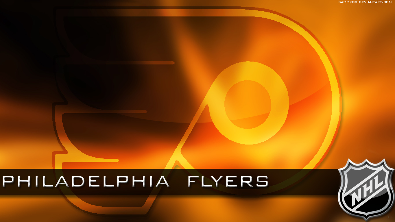 philadelphia flyers gold logo picture and wallpaper 1366x768