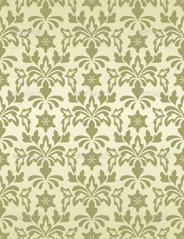 Vector Seamless Vintage Wallpaper Pattern   Patterns Decorative 590x764