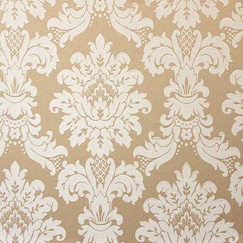 Free Download Gold Cream 261001 Messina Damask Textured Arthouse