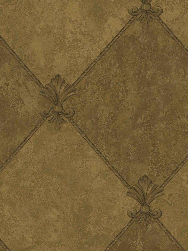 Interior Place   Dark Metallic Gold Trellis Diamond Wallpaper 2999 720x960