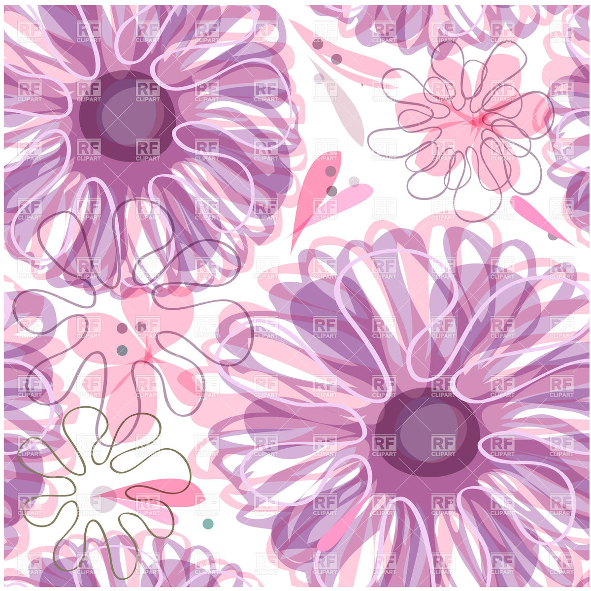 Free Download Purple Floral Background With Stylized Flowers 22968