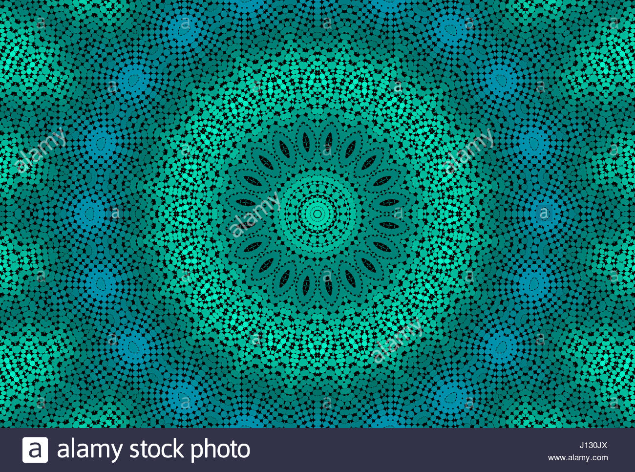 Abstract emerald background with radial dotted pattern Stock Photo 1300x966