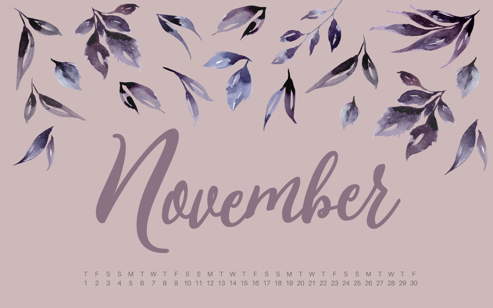 November 2018 Desktop and Mobile Calendar Wallpaper UpperCase 1000x625