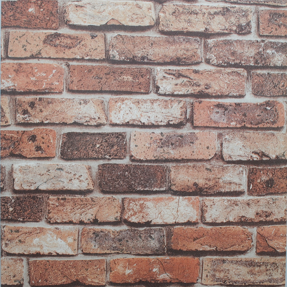 Retro 3D Wallpaper Vintage Natural Brick Wall WallpaperTexture Vinyl 1000x1000