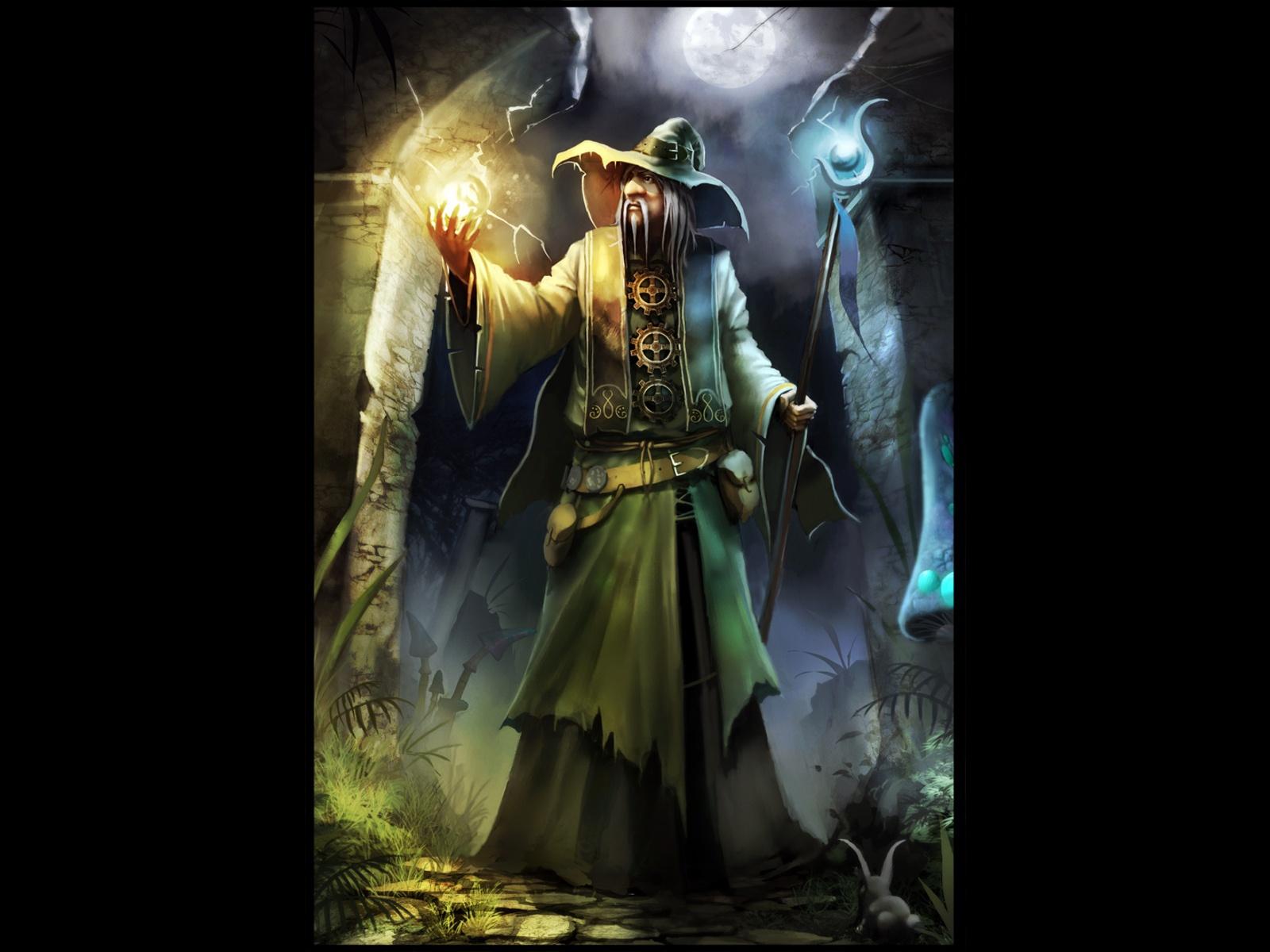 Fantasy Wizard Background 1 Hd Wallpapers: Wizard Desktop Wallpaper