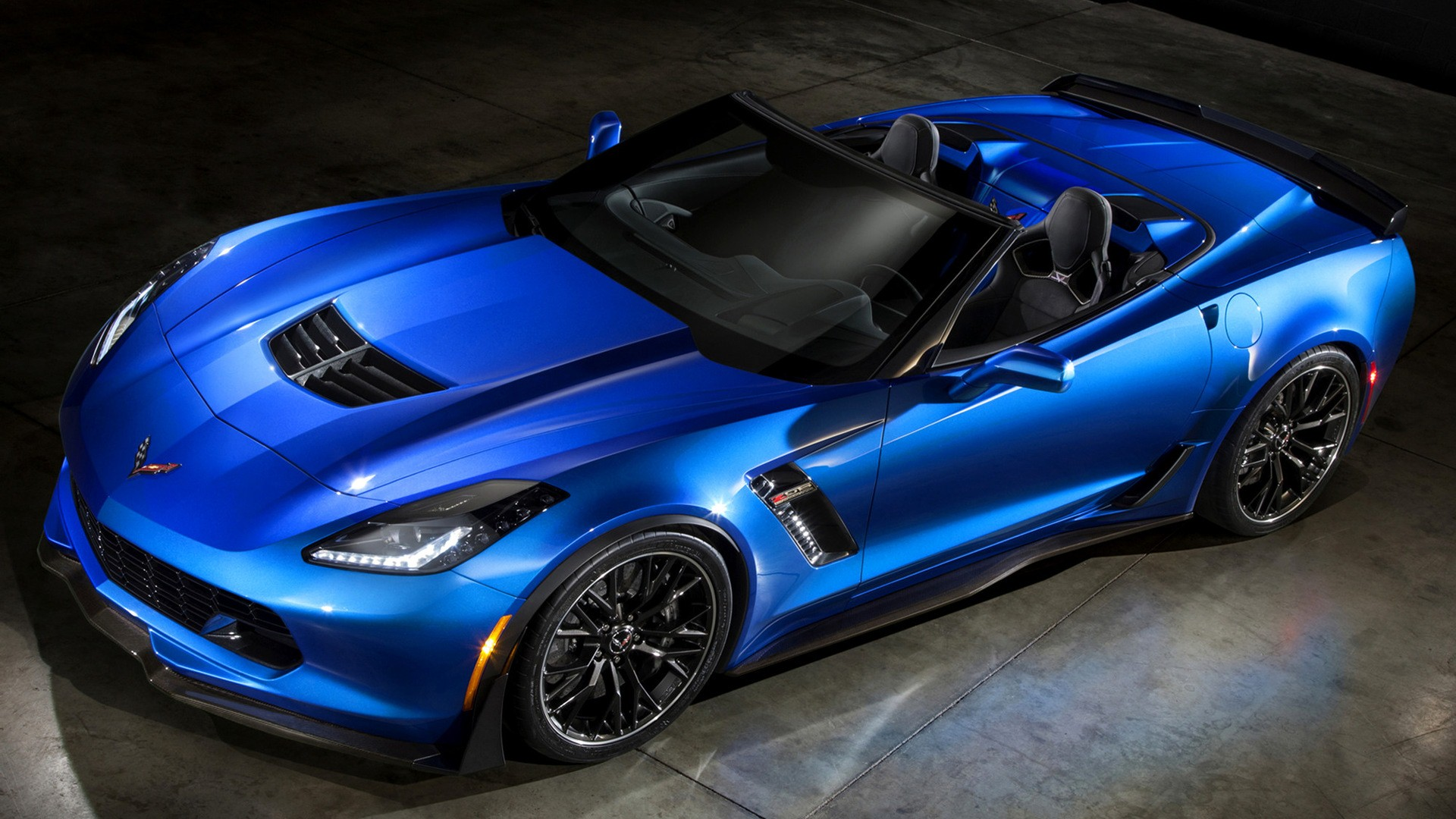 Corvette Z06 Convertible Blue Car HD Wallpapers HD Wallpapers 1920x1080