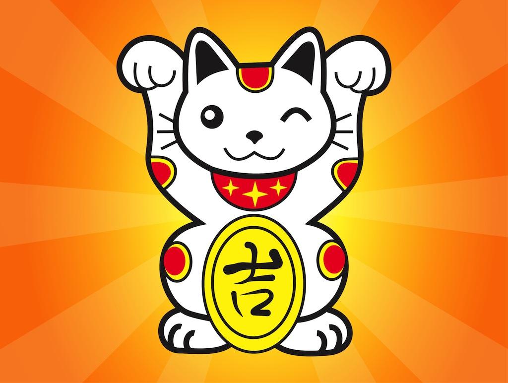 Japanese Lucky Cat Wallpaper - WallpaperSafari