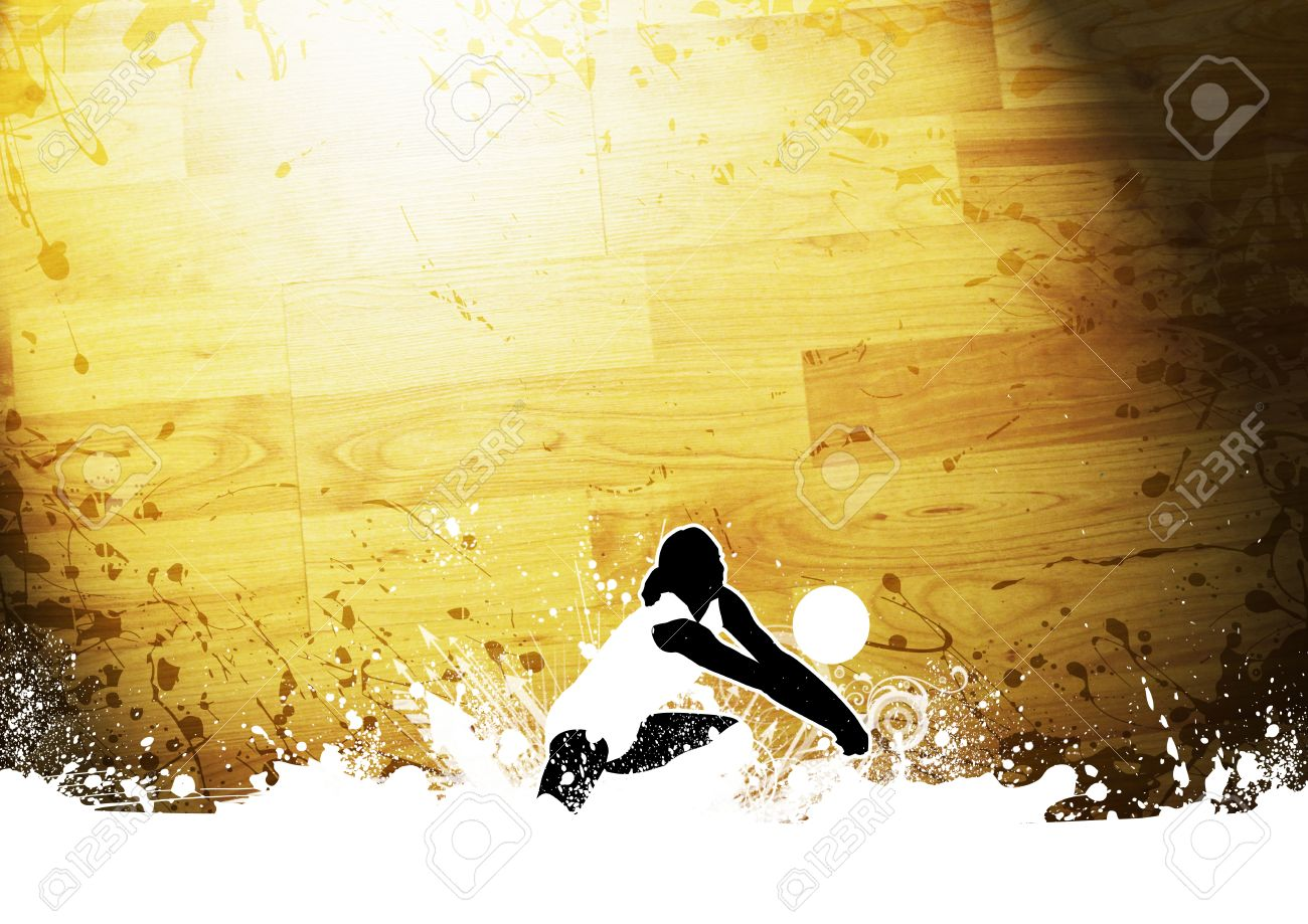 Abstract Grunge Color Volleyball Background With Space Stock Photo 1300x919