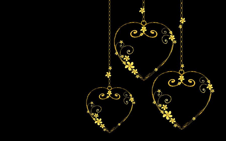 gold hearts wallpaper wallpapersafari Intertwined Hearts Clip Art Free free filigree heart clip art