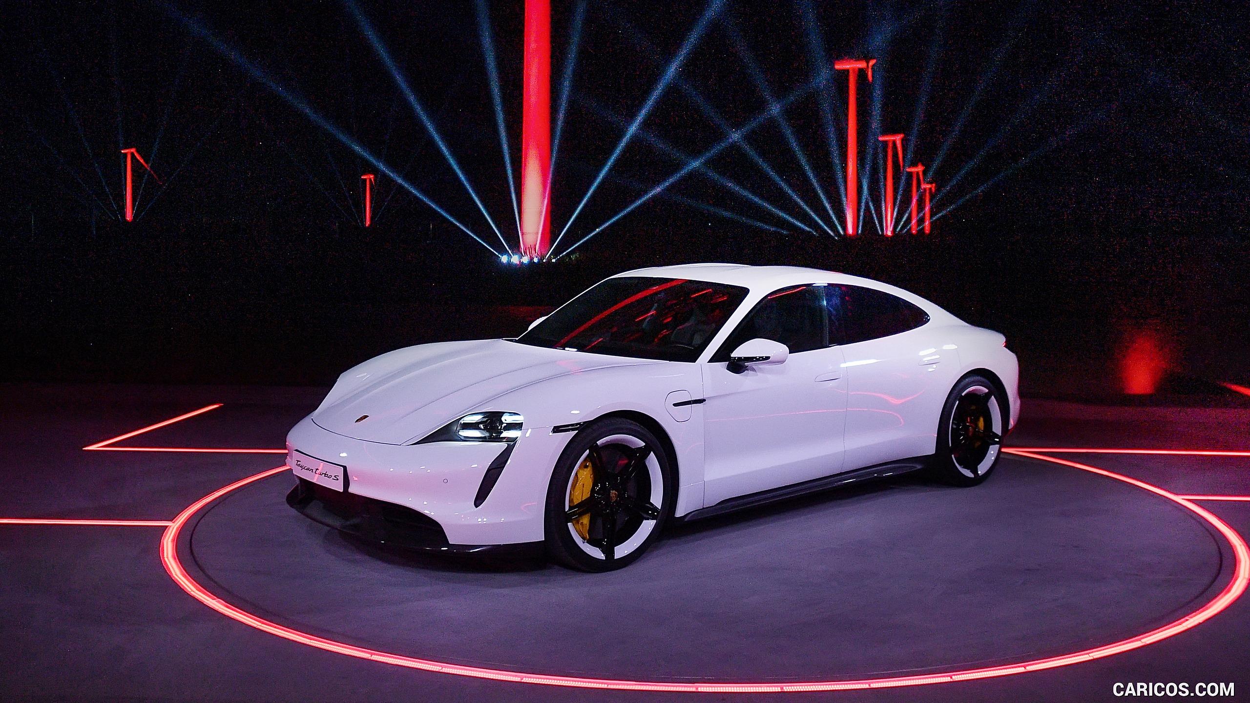 2020 Porsche Taycan Turbo S   Front Three Quarter HD Wallpaper 9 2560x1440
