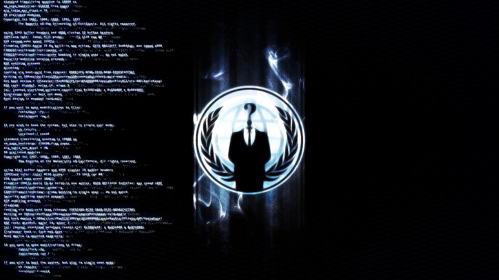 Wallpaper 1920x1080 Anonymous Terminal Hack Commands Ligne 1920x1080