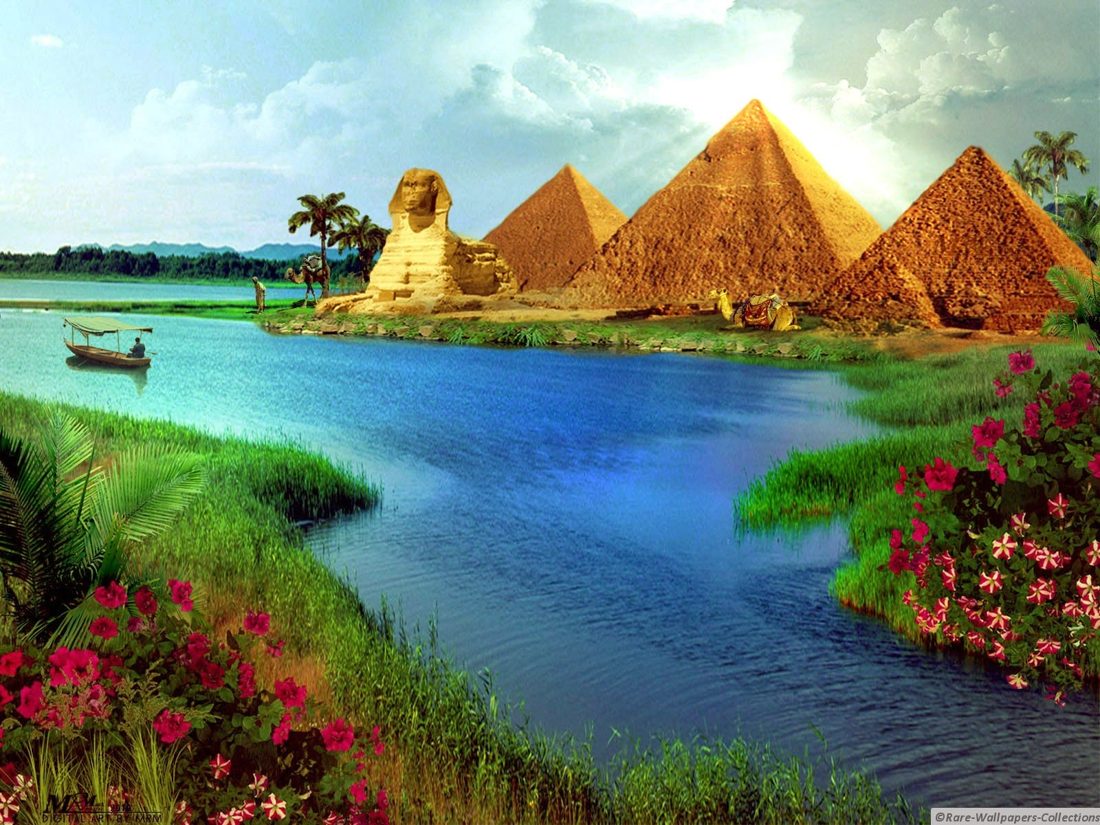 Rare Wallpaper Collections Egyptian pyramid Art wallpaper 1600x1200
