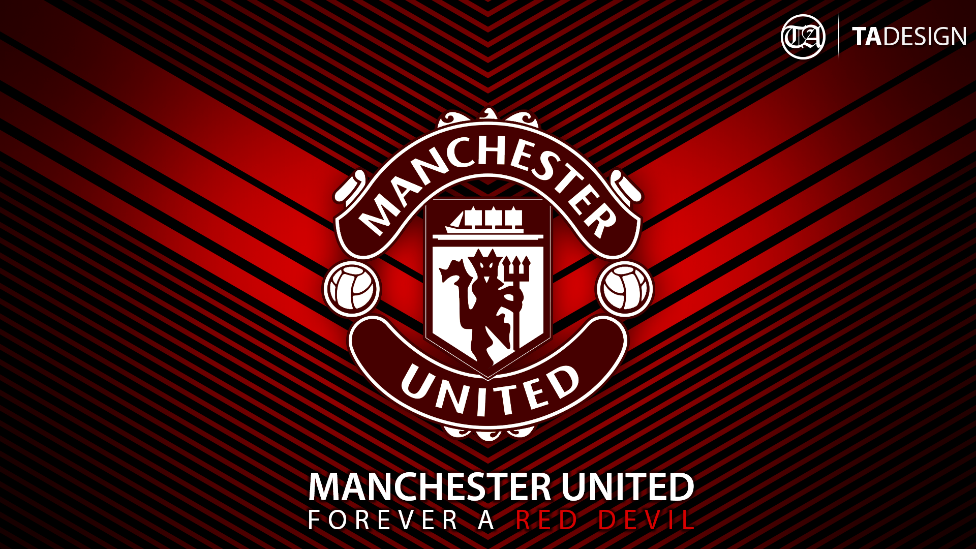 utd wallpaper forever a red devil by tauseen customization wallpaper 1920x1080