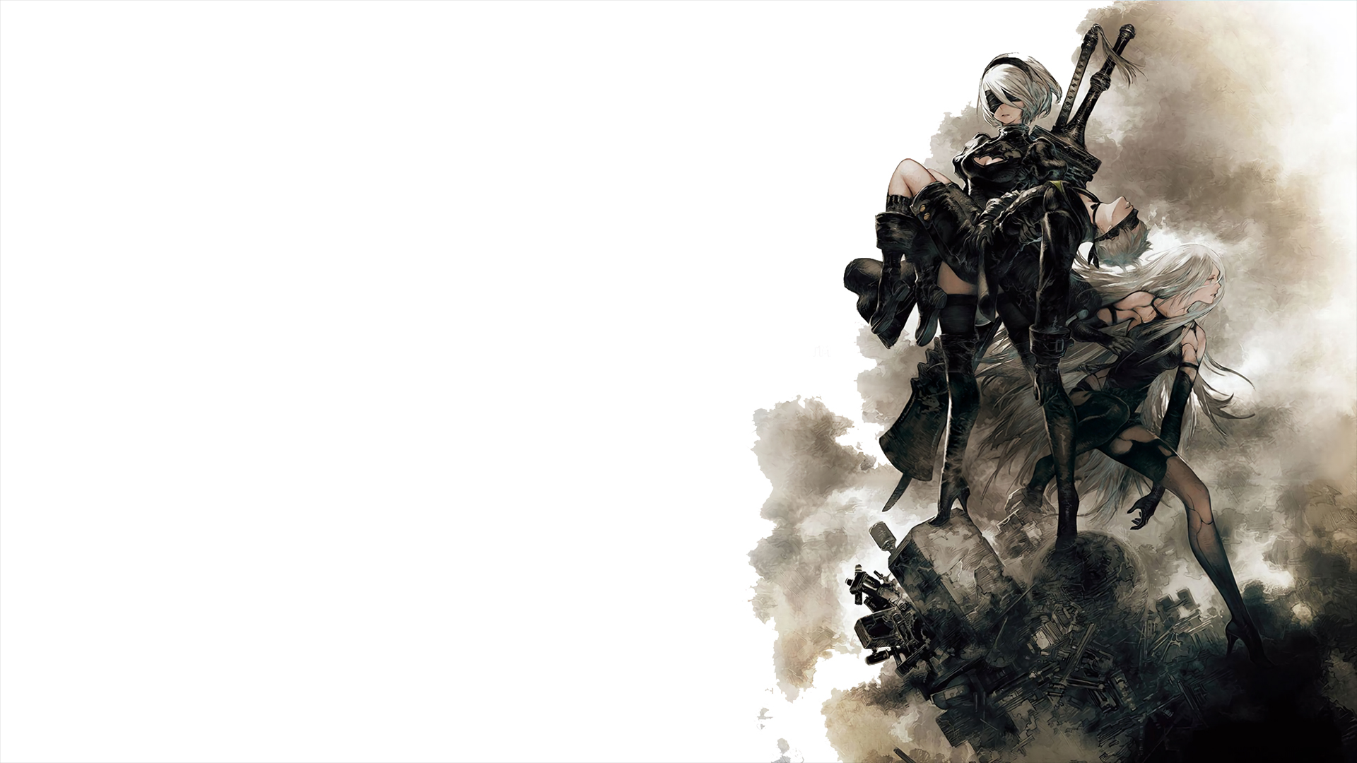 The trio of playable characters from Nier Automata Wallpaper 1920x1080