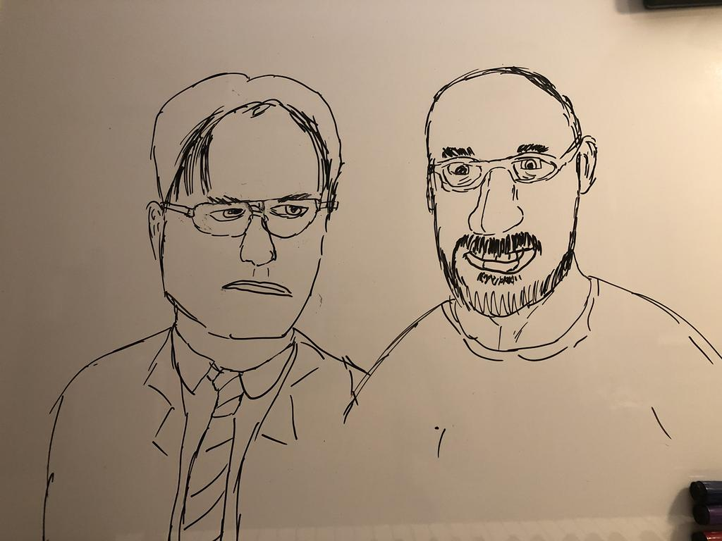 Vsauce and dwight by Shortstopghost 1024x768
