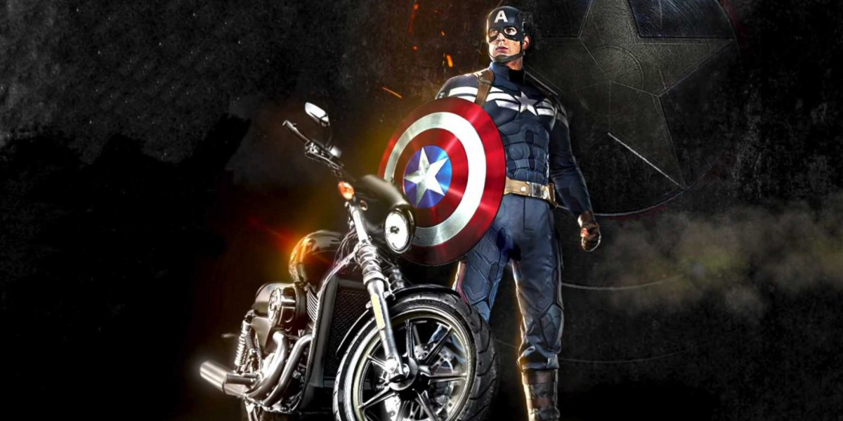 captain america harley desktop hd wallpaper Desktop Backgrounds for 1200x599