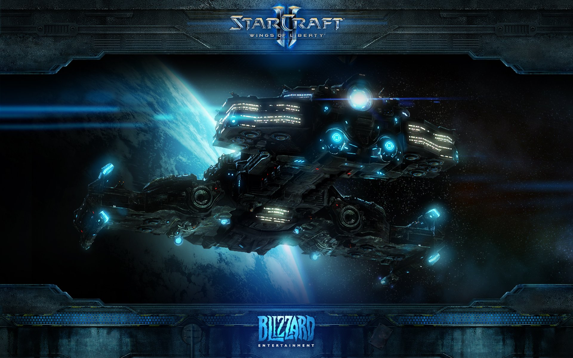 Starcraft Spaceship [wide] 1920x1200