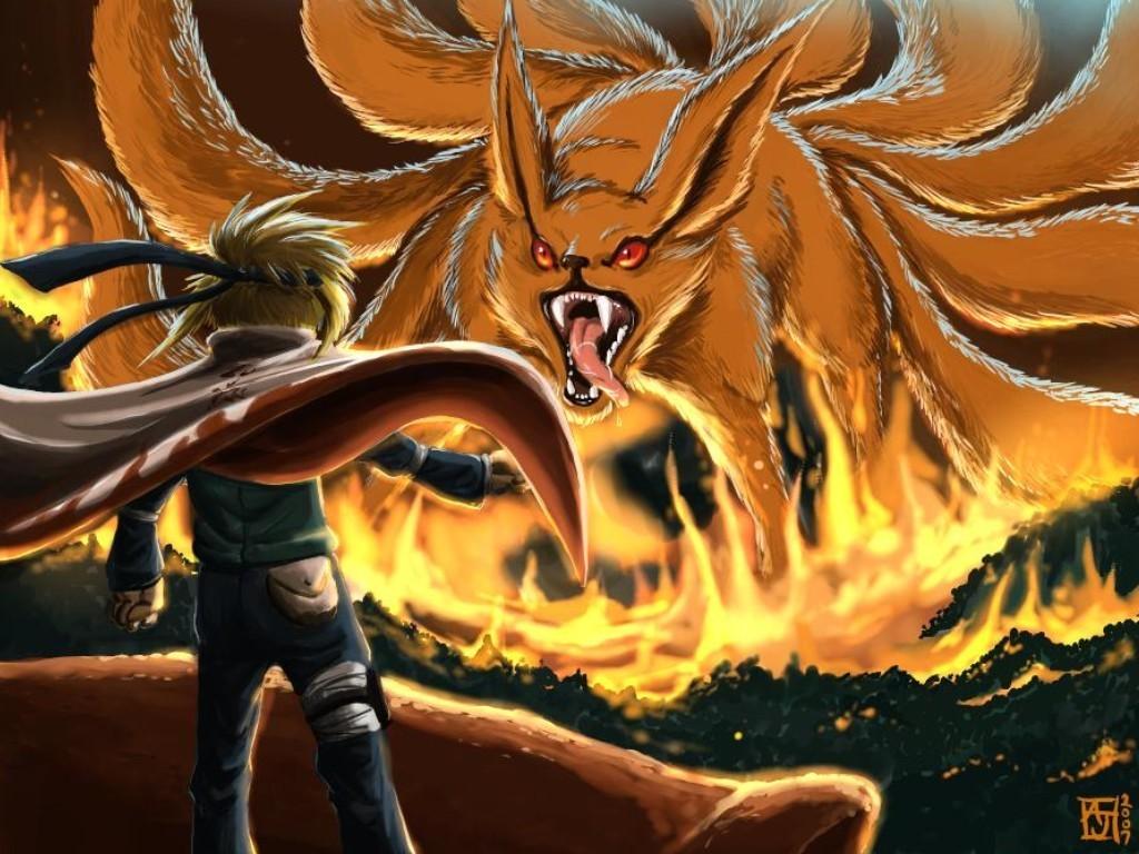 Naruto Nine Tailed Demon Fox Wallpapers 1398 Anime   bwallescom 1024x768