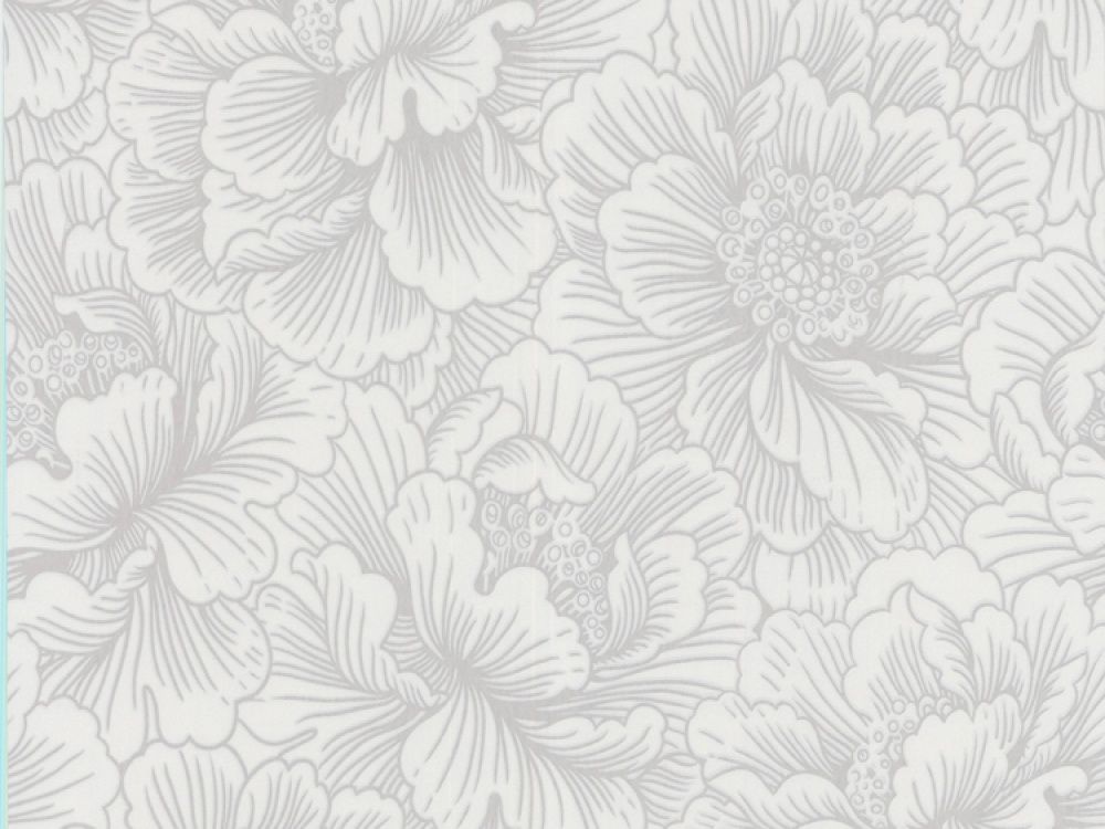 Delivery on Flourish White Silver Floral Wallpaper 1000x750