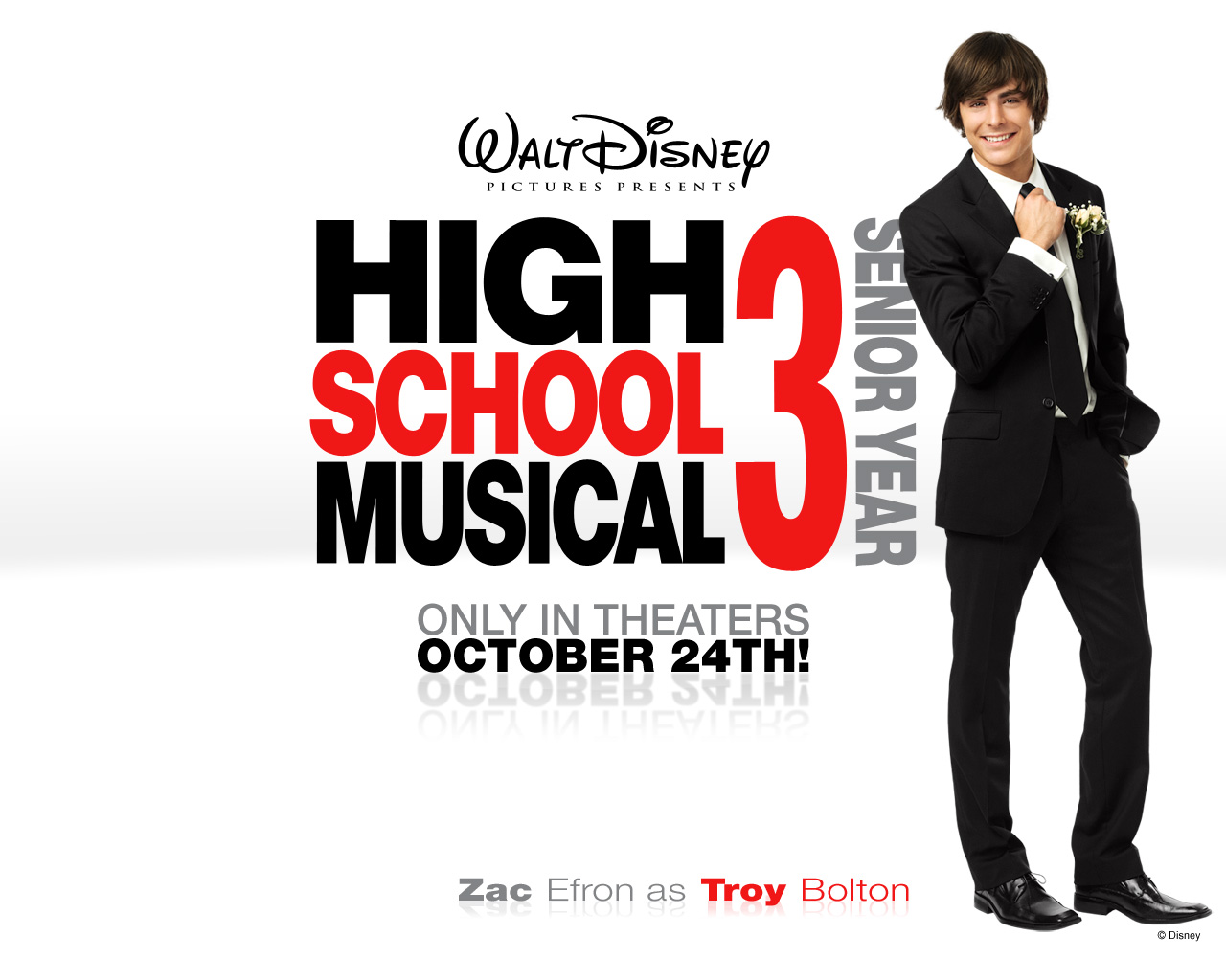 Zac Efron In High School Musical   High School Musical 3 Hd 1280x1024