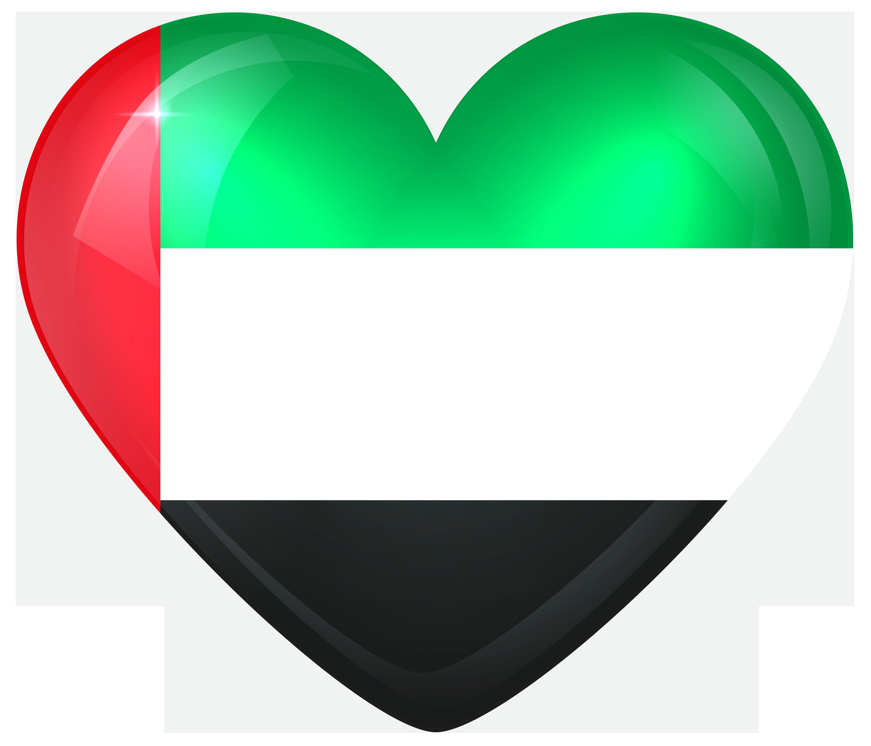 United Arab Emirates Large Heart Flag Gallery Yopriceville 6000x5137