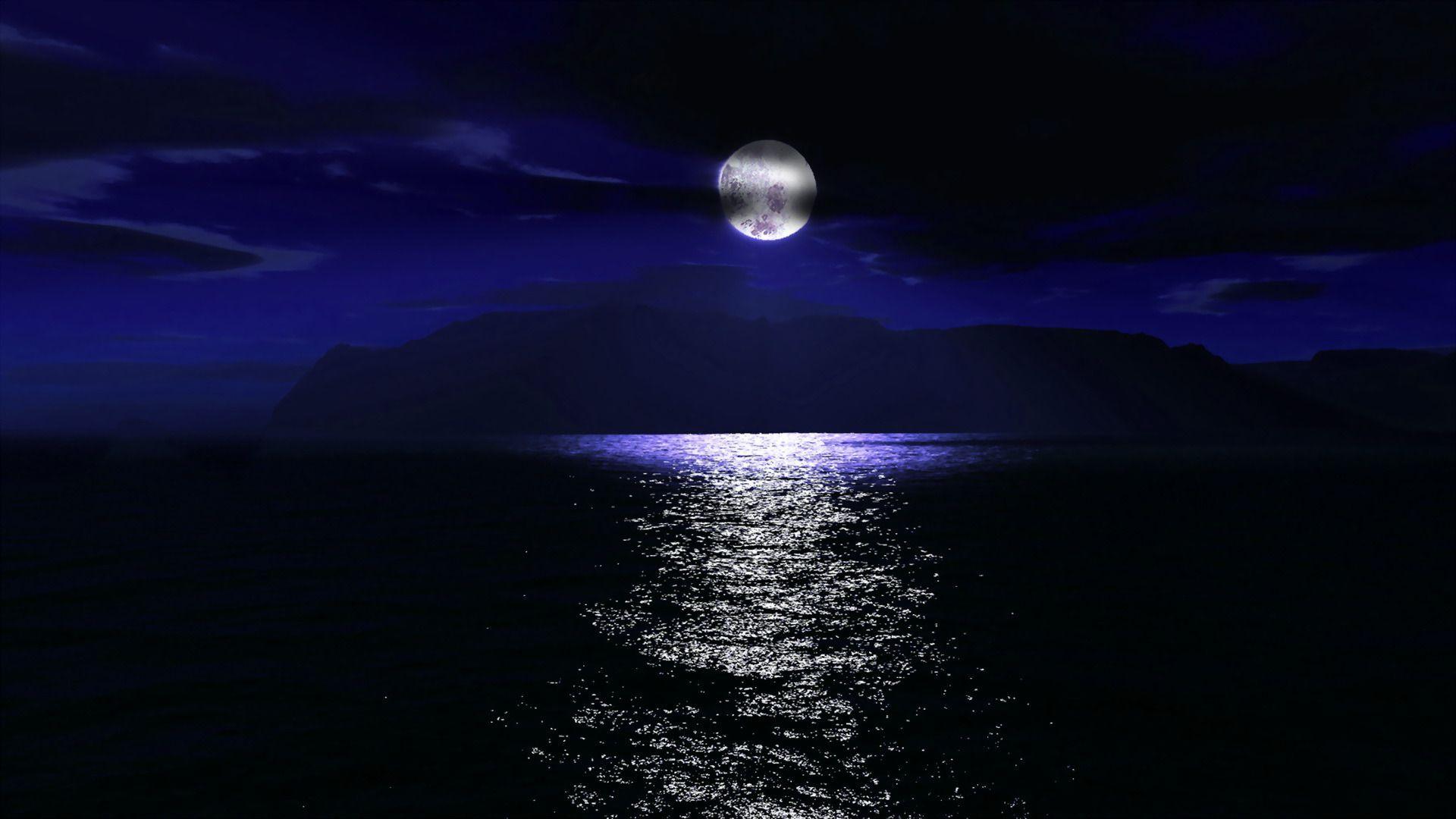 moon over ocean wallpaper wallpapersafari