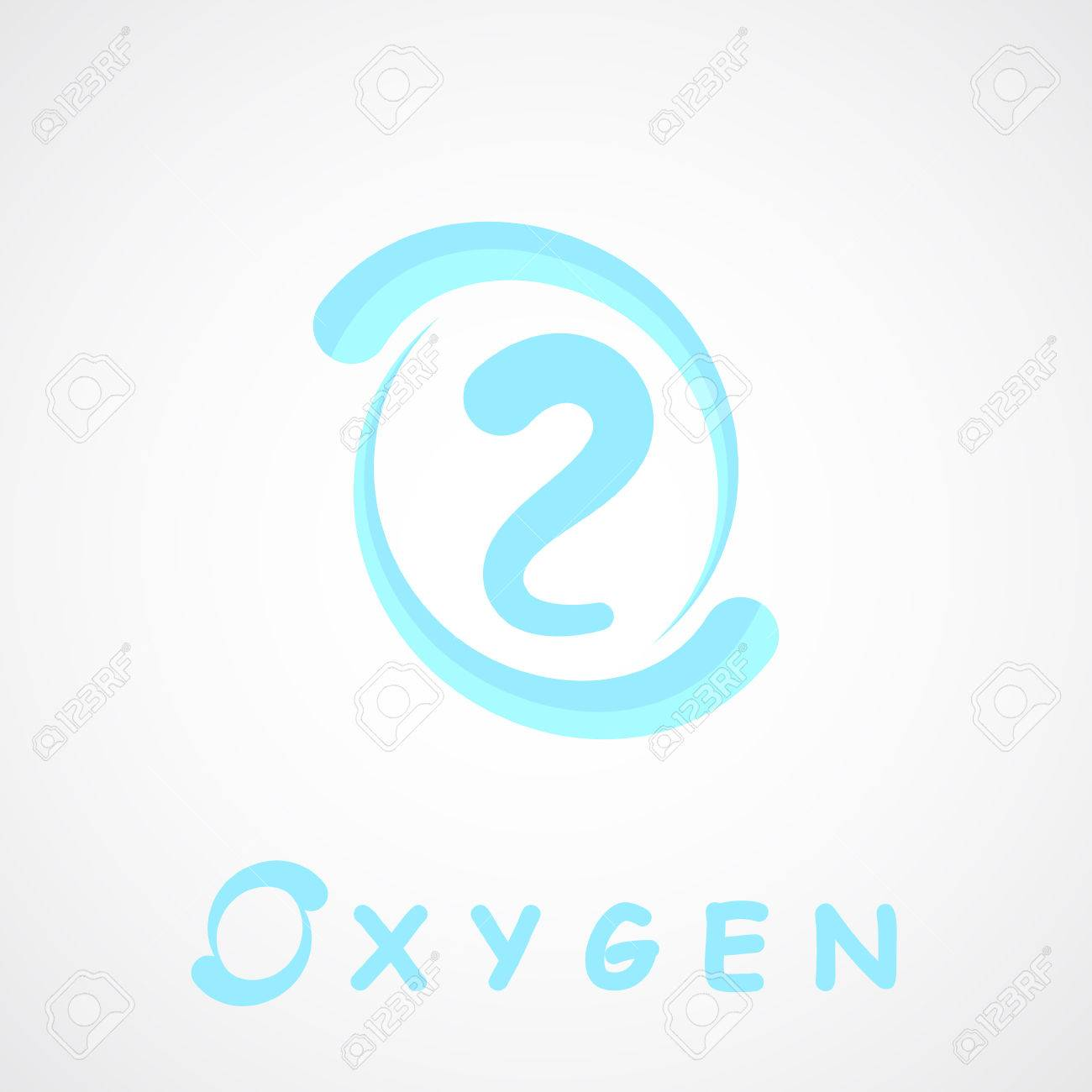 Oxygen Icon O2 Shape O Letter 2d Vector On Gray Background 1300x1300