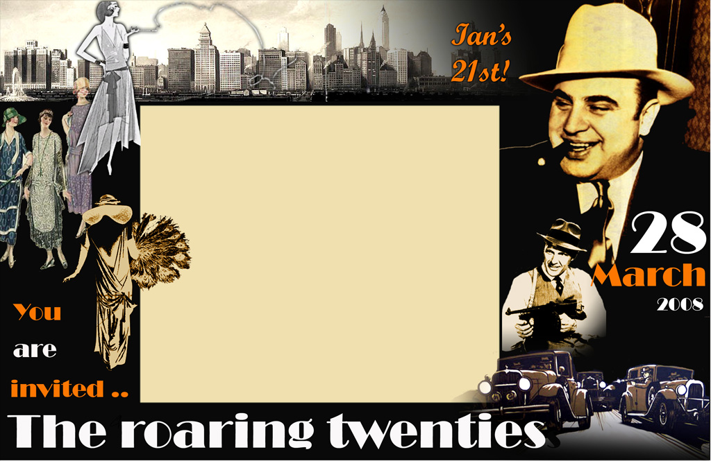 Roaring 20S Invitations are Elegant Style To Create Amazing Invitation Sample