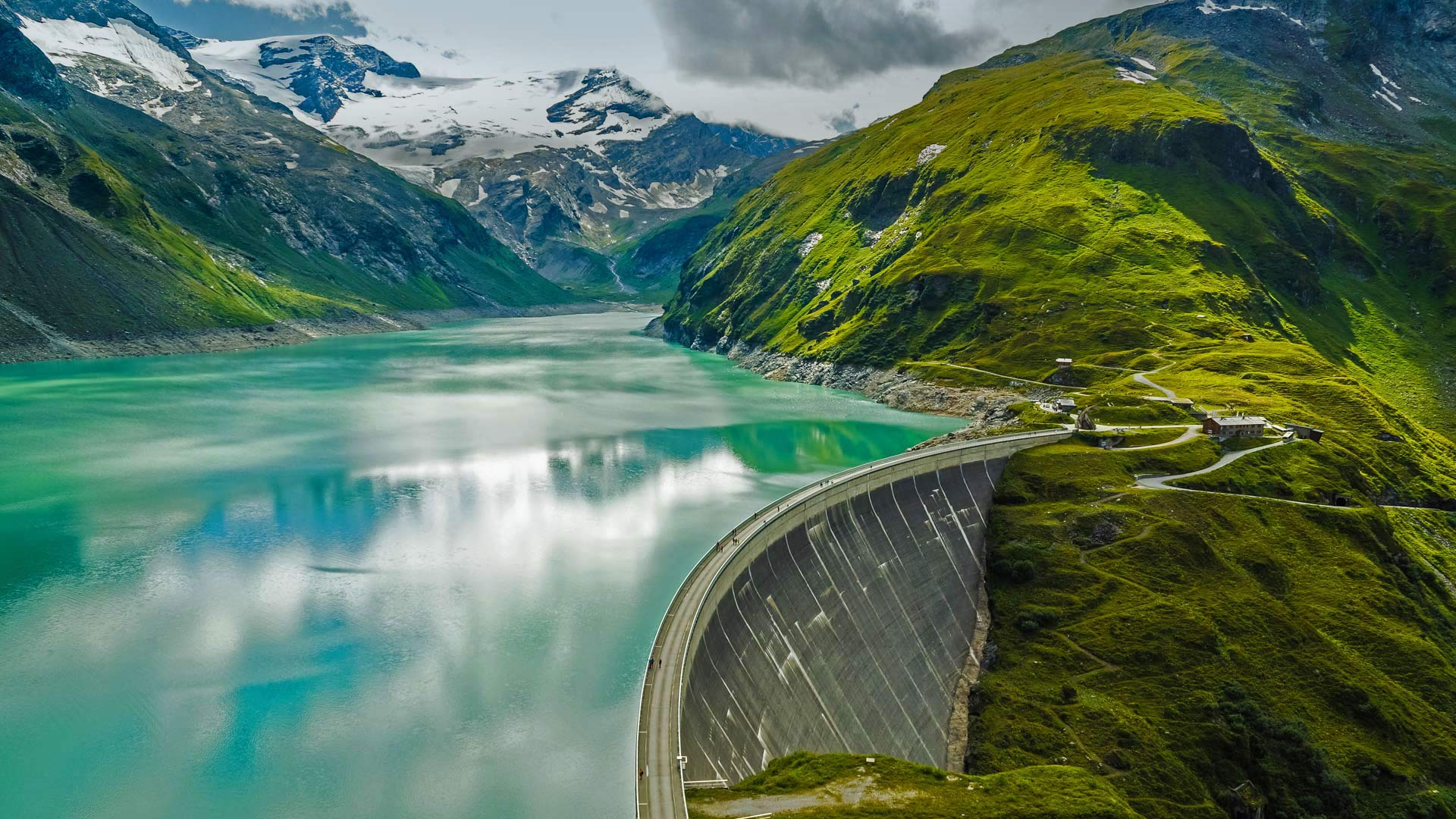 Kaprun Dam Bing Wallpaper Download 1920x1080